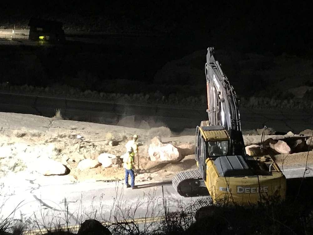John Lewis, Arches National Park photo Construction spans 26 mi. of roadway.