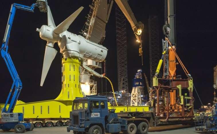 The MeyGen tidal power generator that Atlantis operates in the U.K.