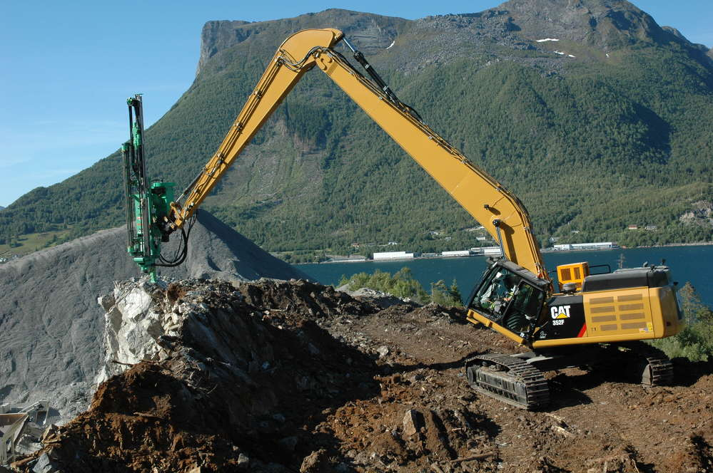 The Montabert CPA 295 rock drill attachment allows contractors to drill holes from 3 to 4 in. (7.6 to 10 cm) in diameter, up to 72-ft. (22 m) deep.