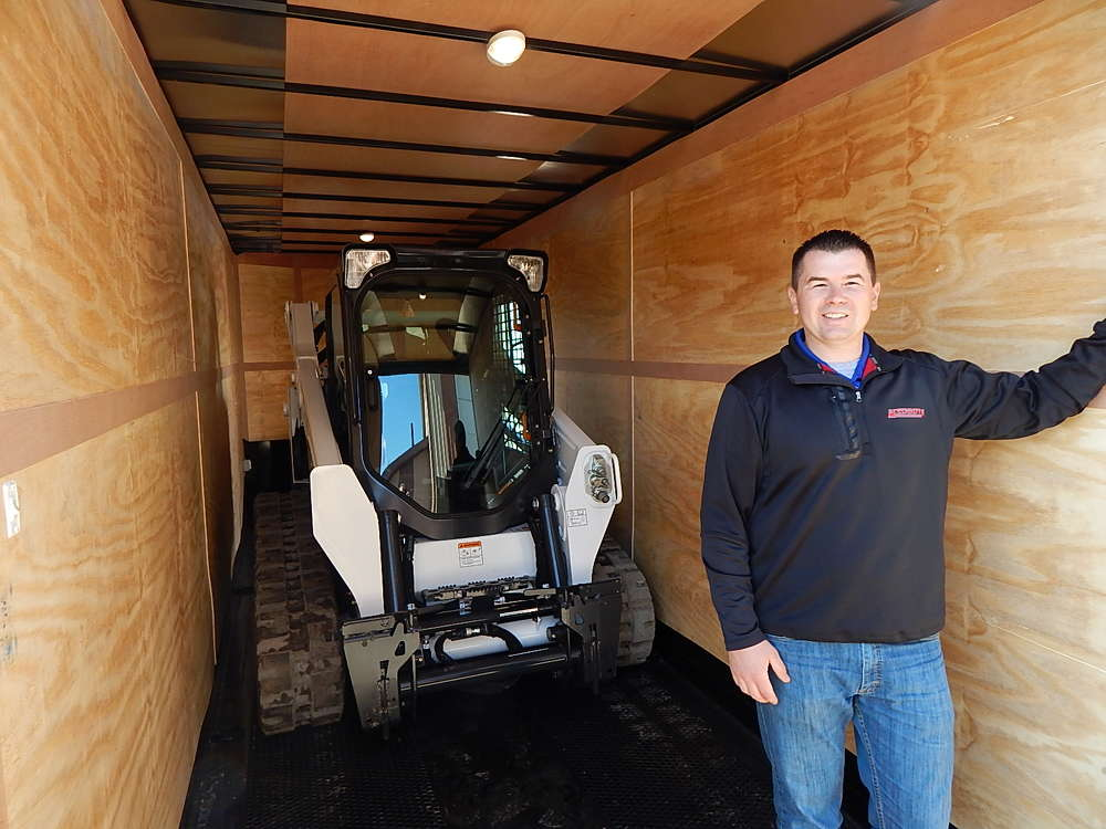 Derek Hentges, sales manager of Midsota Manufacturing Inc., manufacturers  of trailers and skid steer attachments, Avon, Minn.