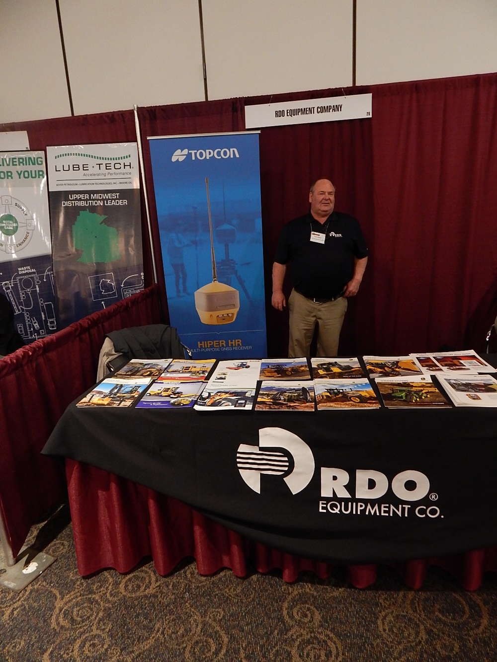 Dale Magee,  sales professional, RDO Burnsville, Minn., attends the event.