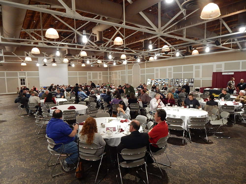 A crowd attended the MAPA Education Day at the Earle Brown Heritage Center.