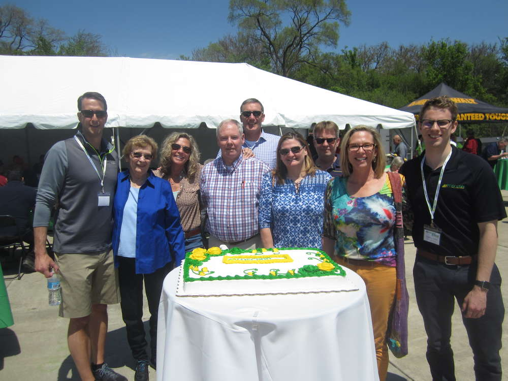 The McCann family gets ready to cut the 50th anniversary cake.