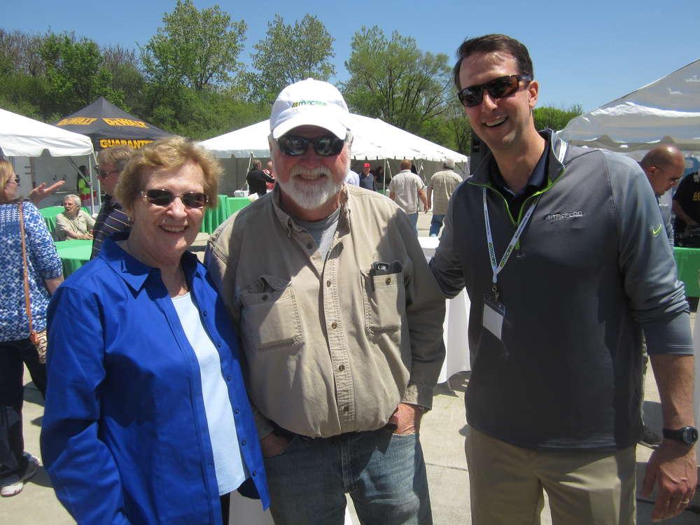 (L-R) are Lynn McCann, wife of the late Dick McCann, founder and CEO of McCann Industries Inc., Rich Phelan, senior concrete superintendent, James McHugh Construction Co., and Jim McCann, president and CEO, McCann Industries Inc.