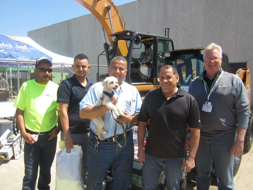 (L-R) are Guillermo Lopez, Jesse Edgerton, Daniel Melesio and Israel Tapia, all of Highway Safety Corporation, and Chris Meurer of McCann Industries Inc.
