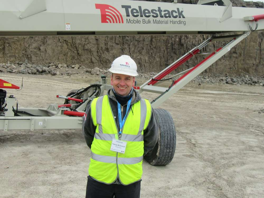 Padraig McDermott, Telestack International sales manager, was in from Ireland for the event.