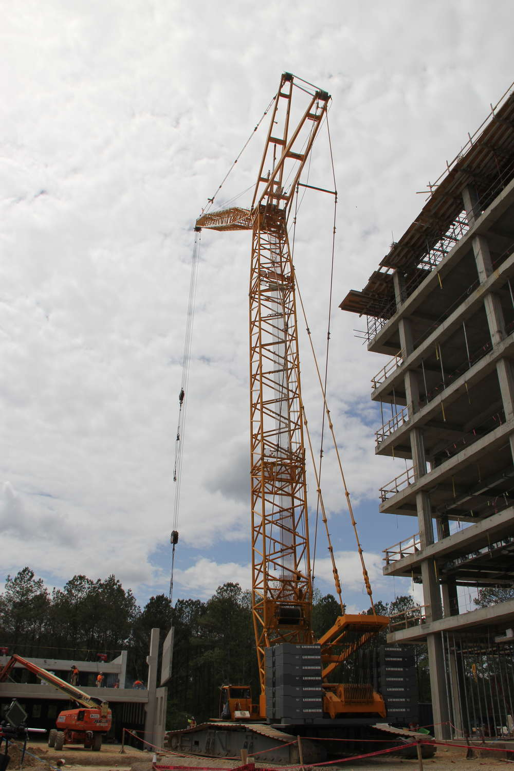 A topping out ceremony was held in April for the seven-story, 200,000-sq. ft. building.