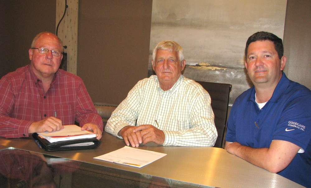 (L-R): Thompson Tractor's David Fitzgerald and Goodgame Company's Adrick and Jason Goodgame.