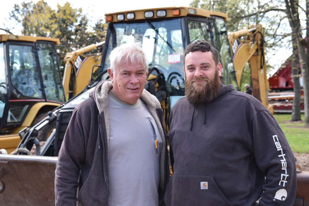 Carl (L) and Eric Ankiewicz, owners of Ankiewicz Enterprises, travelled from Tamaqua, Pa., to attend the auction in Flemington, N.J.