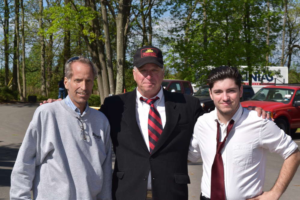 (L-R) are Ron Miniscalco, superintendent of Miniscalco Corp., Philadelphia, Pa.; Mike Hunyady, owner of Hunyady Auction Company; and Vincent Miniscalco, a third-generation family member who has just joined Miniscalco Corp