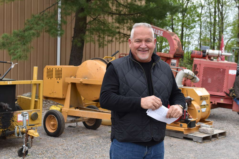 Rich Califano, used sales and purchasing of Foley Inc., Piscataway, N.J., checks up on a few pieces that Foley sold to the Barbiche Brothers.