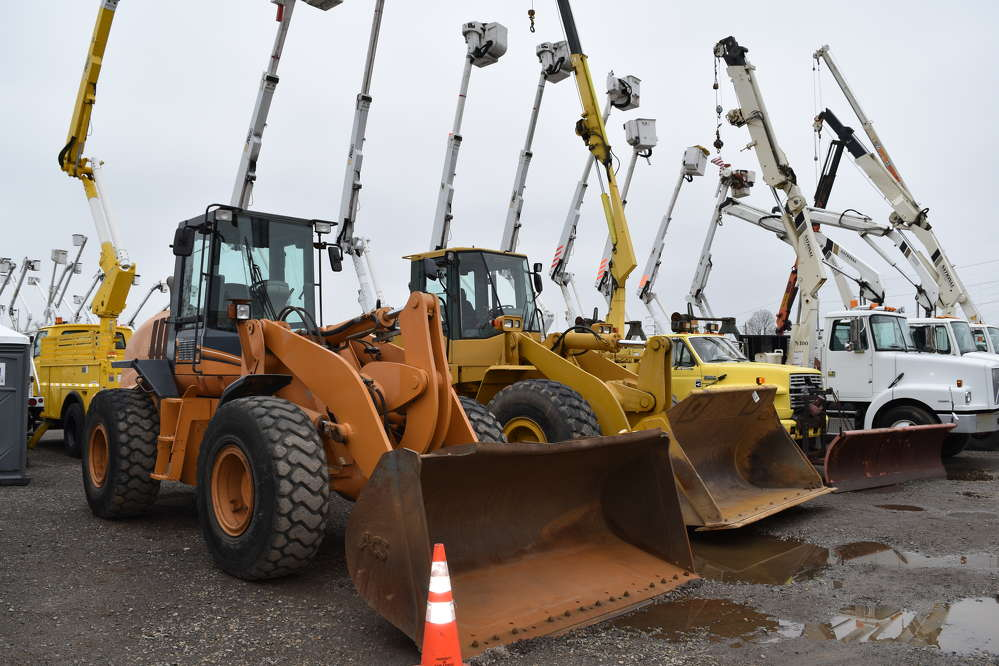 A diverse selection of equipment was available during the J.J. Kane auction in Plymouth Meeting, Pa.