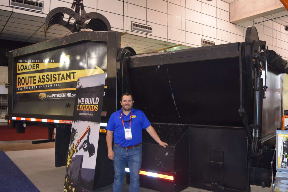 Lane Bryant, regional sales manager of Petersen Industries, Lake Wales, Fla., talks about the loader route assistant.