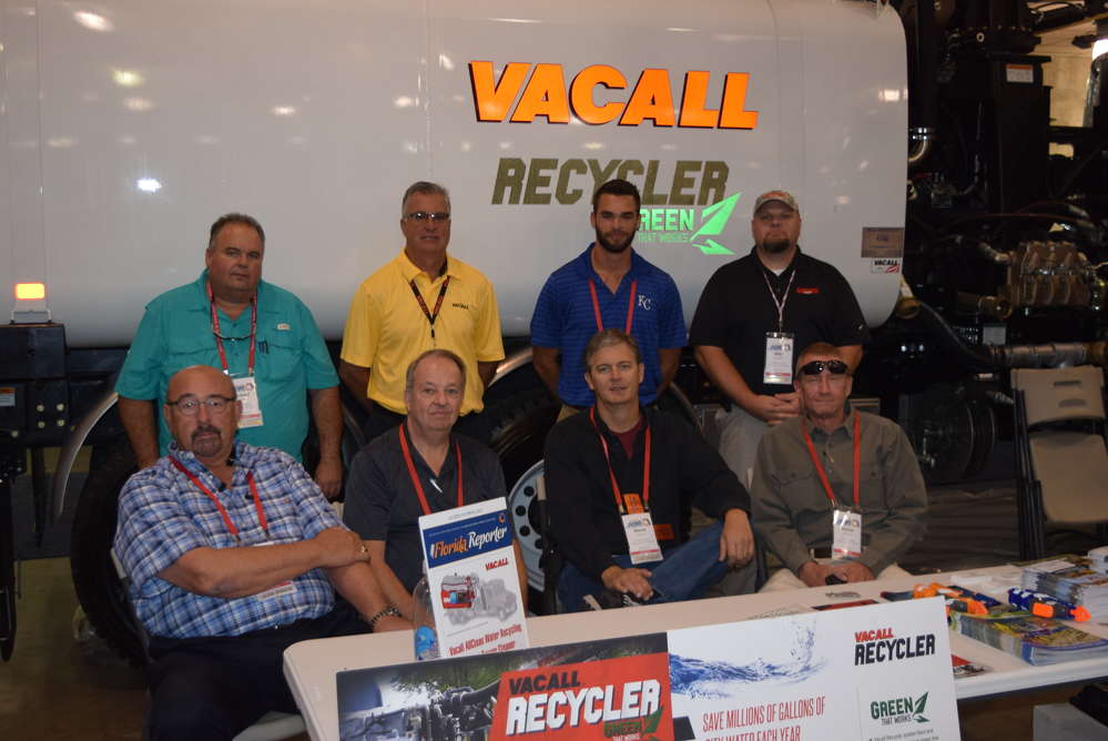 (L-R, front):  John Roserberry, Lanny Hollifield, Steve Tuton, David Moore, and (L-R, back) Robert Martin, Tod Ebetiwo, Jared Wilson and Mike Knowles represent Great Southern Equipment Company at the expo.