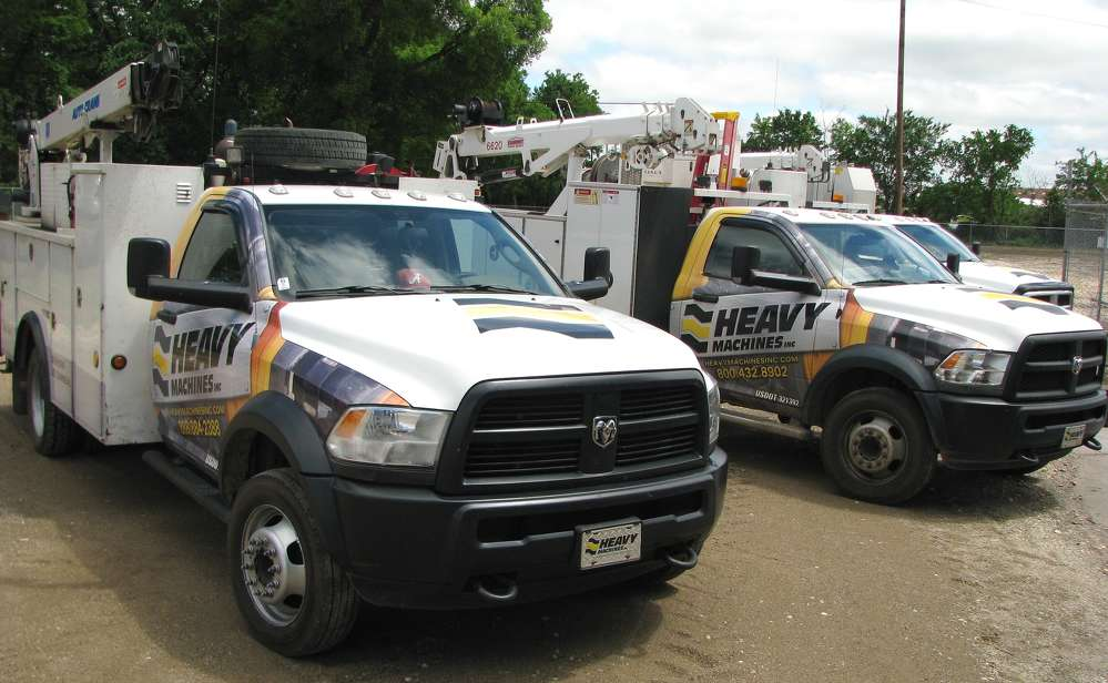 A fleet of service trucks help to keep HMI's customers up and running.