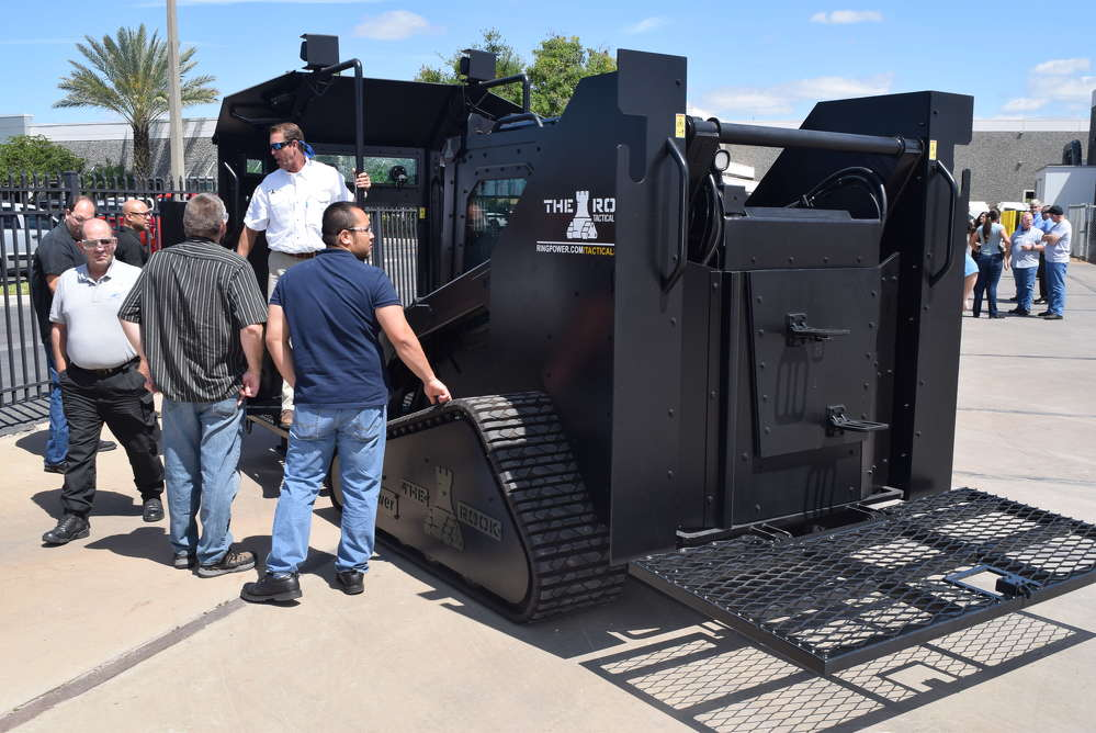 Shaun Mitchell of Ring Power talks about the features and benefits of the The Rook, an armored critical incident vehicle that Ring Power manufactures.