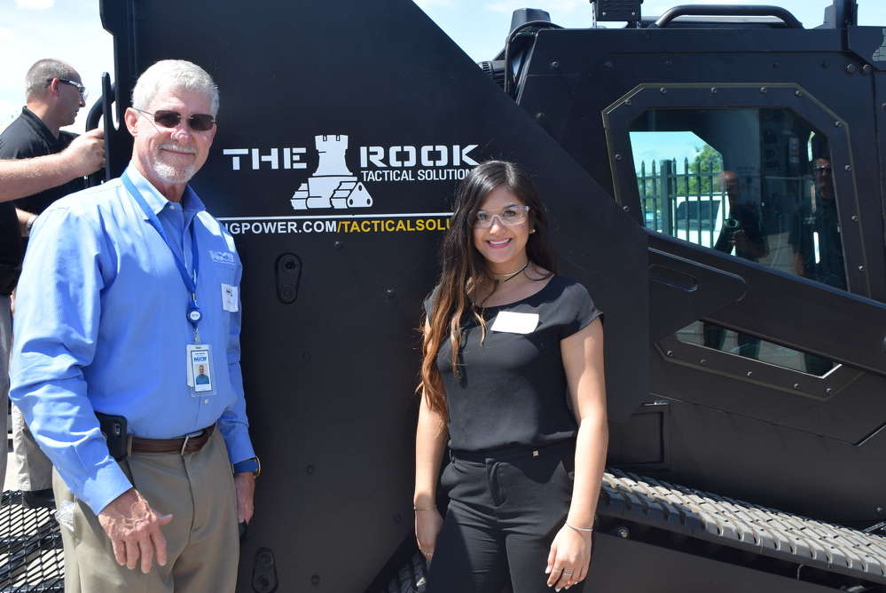 John Halliday, special agent Southeast region, NICB, and Alexis Sunga, investigative specialist, were both on hand to help out with NICB event at Ring Power.