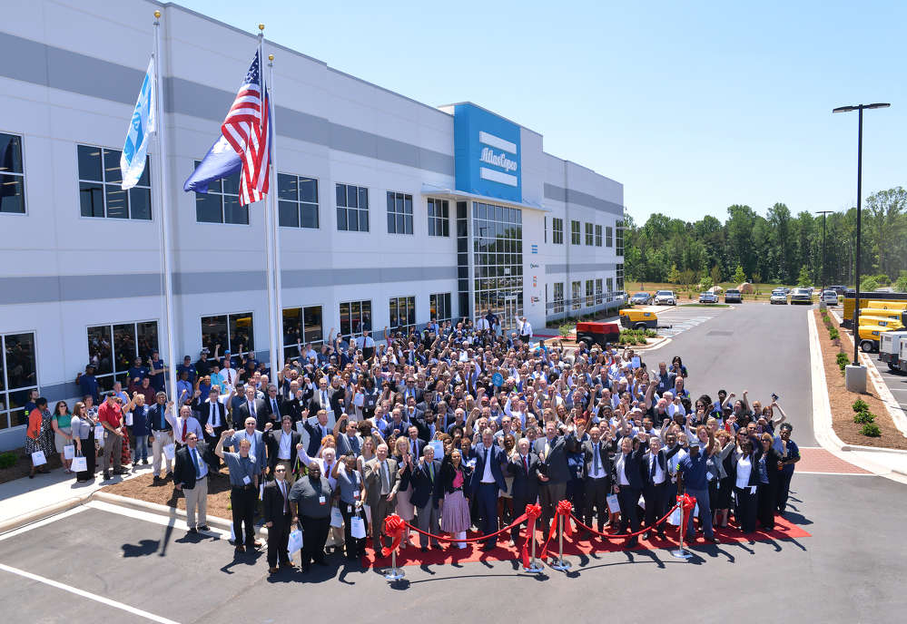 Approximately 400 employees and guests attended the invitation-only grand opening of the Atlas Copco production facility on Wednesday, May 17, 2017 in Rock Hill, South Carolina.