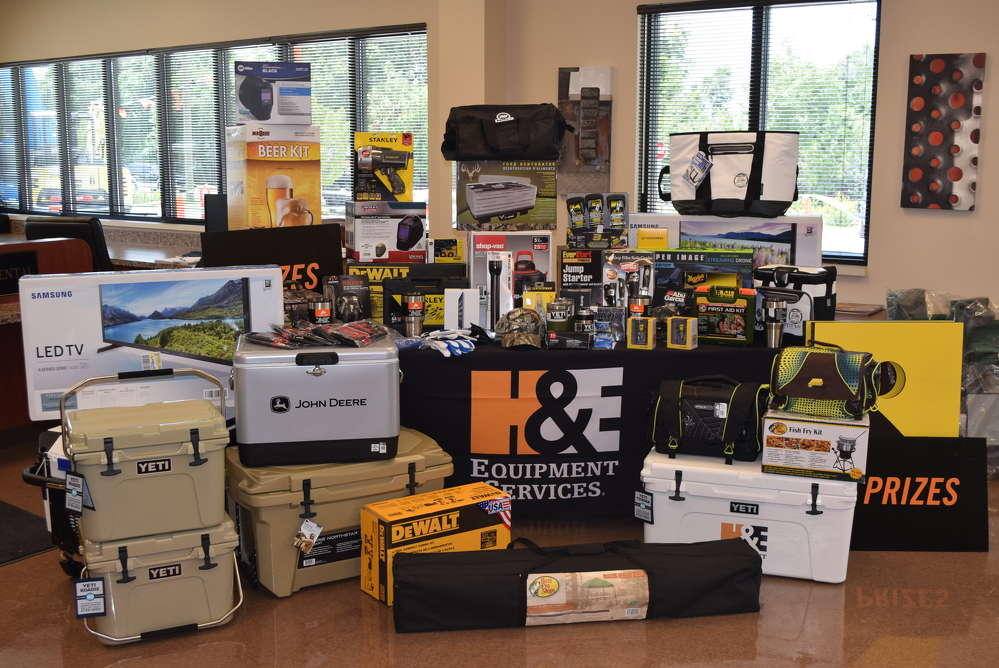 Attendees had the chance to win a variety of door prizes.