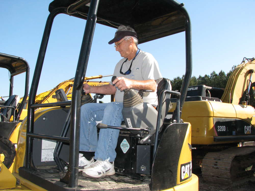Gaston Pace of Pace Truck & Equipment, based in Mississippi, operates a Cat 304e mini-excavator.