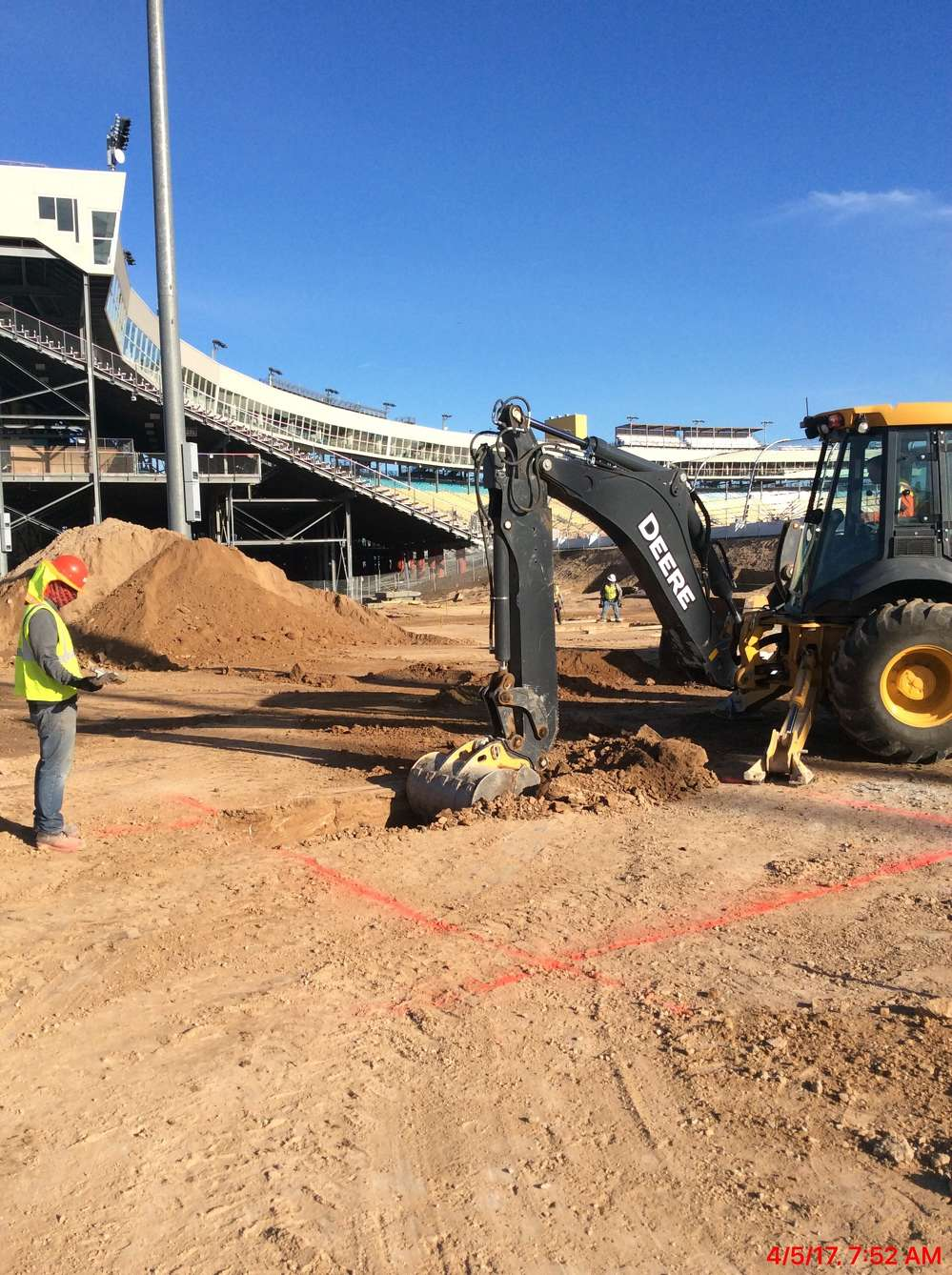 Construction on the Phoenix International Raceway modernization project began in early 2017.