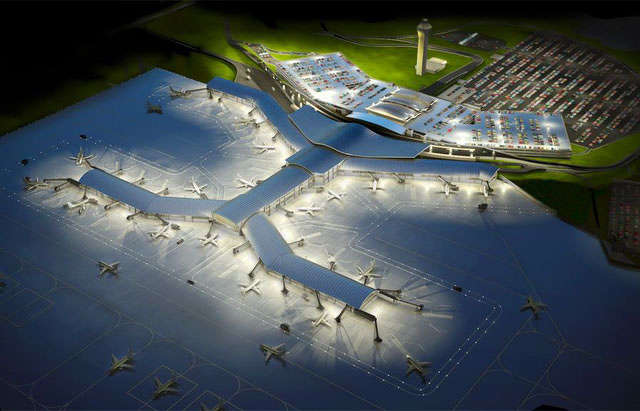 Artist rendering of the proposed Kansas City International airport.