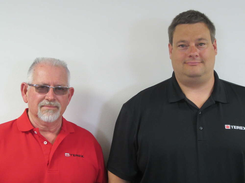 Terex's Dale Putman (left) and Jason Julius have been named to the NCCCO Drill Rig Operation Task Force.