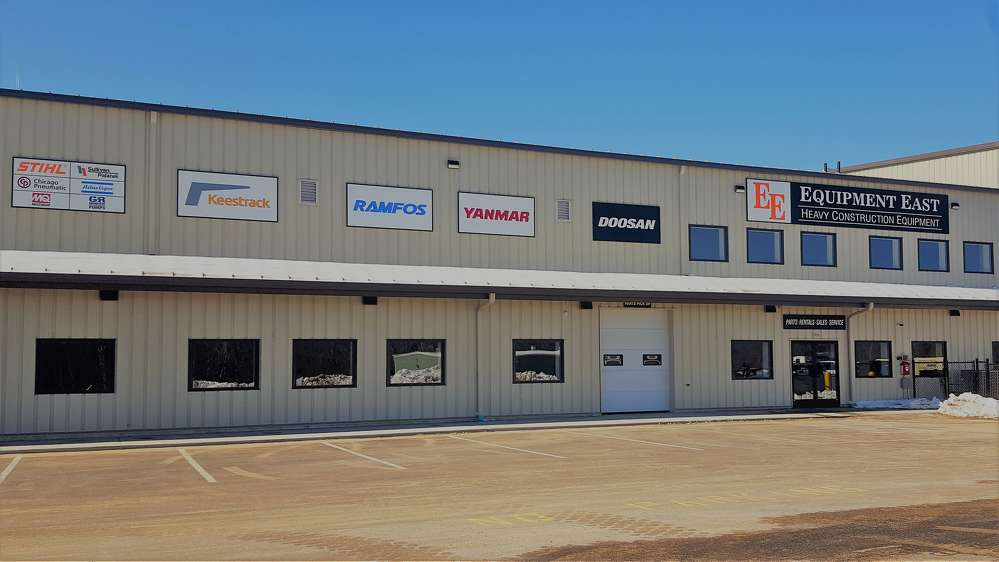 Equipment East's new facility is located at 61 Silva Lane, Dracut, Mass.