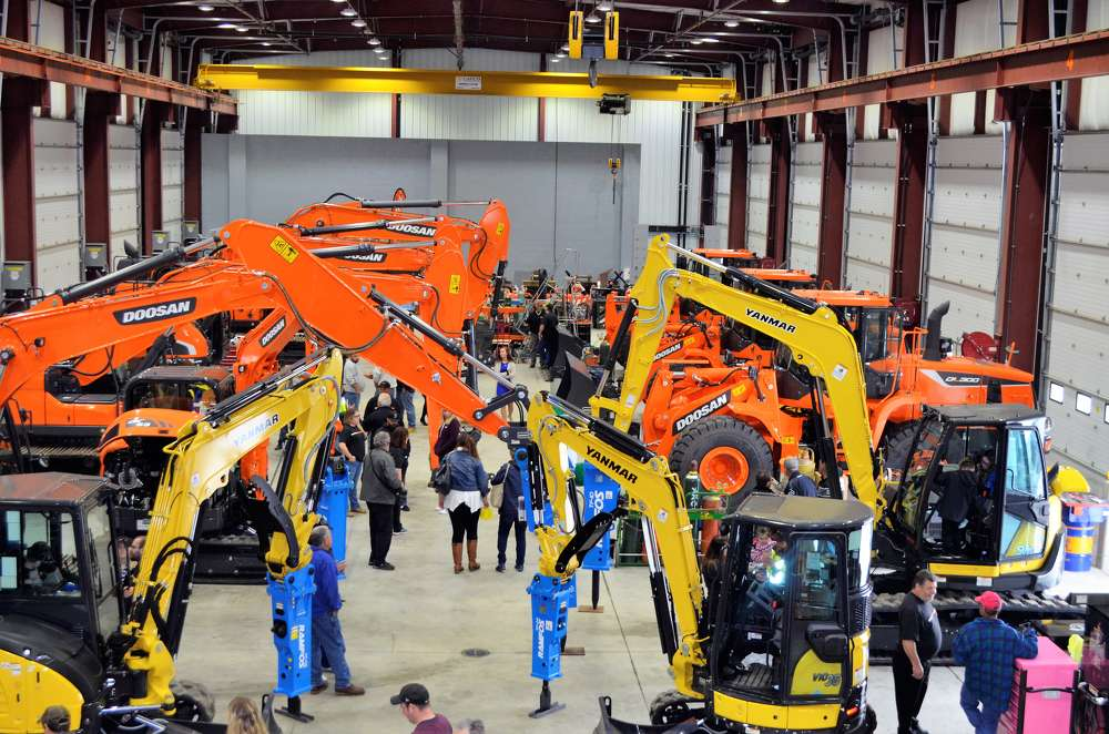 "Customers commented that the equipment display was like a ""mini-ConExpo."""