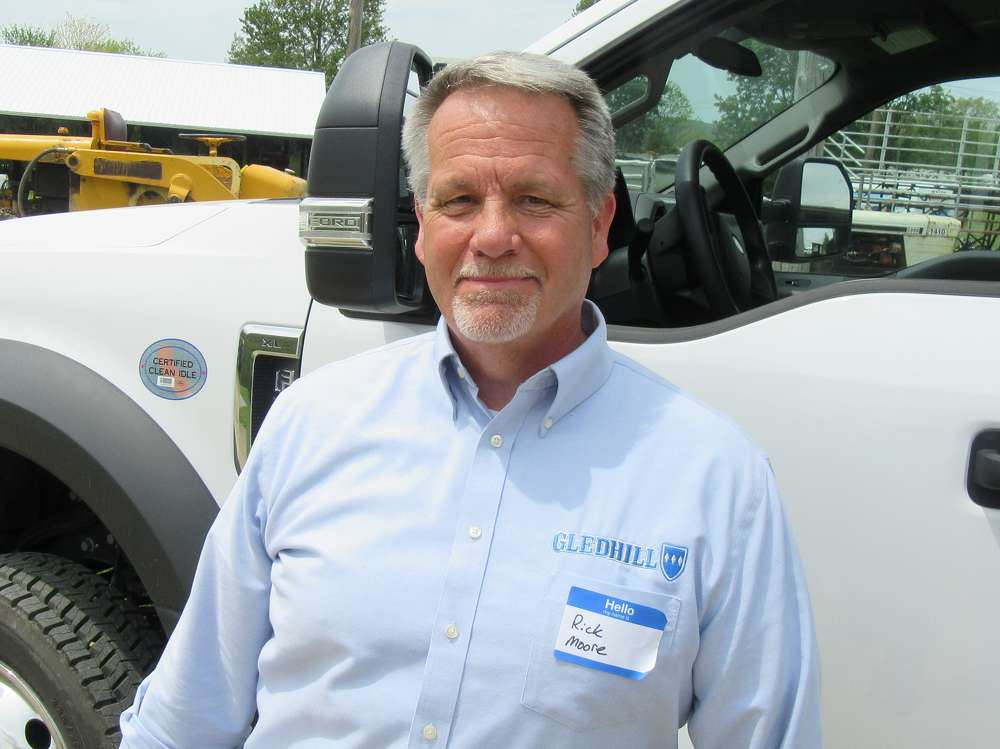 Gledhill Road Machinery Company's Rick Moore was on hand to discuss the company's snow and ice removal equipment.