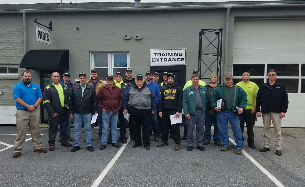 Technicians from the various LeeBoy dealer shops in the region including Stephenson Equipment, Monroe Tractor, Ambrose, Hoffman Equipment and U.S. Municipal, attended the training.