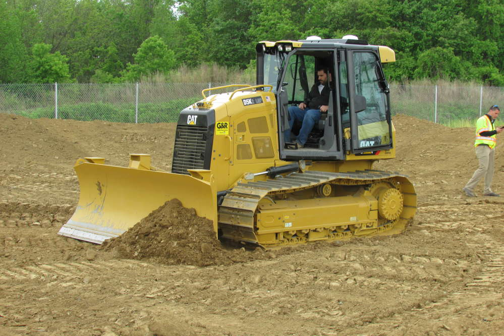 During the Ransome CAT One Day Sale, guests were provided the opportunity to test out the Accugrade GPS system on a Caterpillar D5K2 dozer.