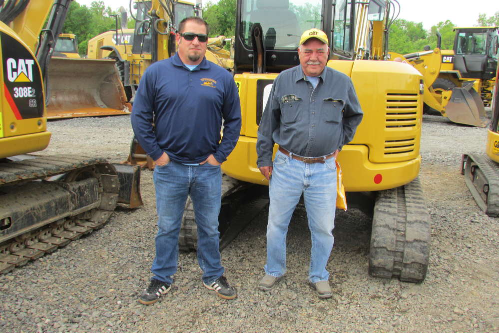 Frank Wunder (L) and Don Cruickshank, both of Wunder Construction Company, Reading, Pa., are looking to take advantage of some great pricing on Caterpillar equipment.