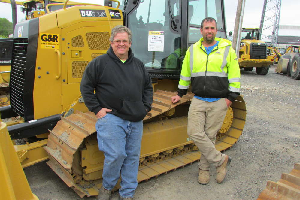Dan McAuliff (L) and Jason Nissenbaum, both of Bazella Group, Whitehall, Pa., are regular attendees to the Ransome CAT One Day Sale.