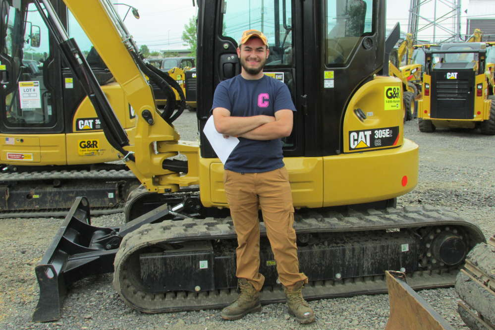 Adam Arena of Arena Tree & Landscape Specialists, Wayne, Pa., is interested in buying this 305E2 mini-excavator.