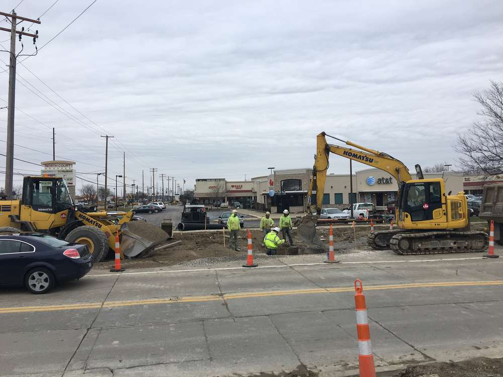 The $17 million project, taking place within the city of Medina, covers 1.5 mi. (2.4 km) of road just south of Harding Street to just south of Fenn Road. DiGioia-Suburban Excavating LLC photo