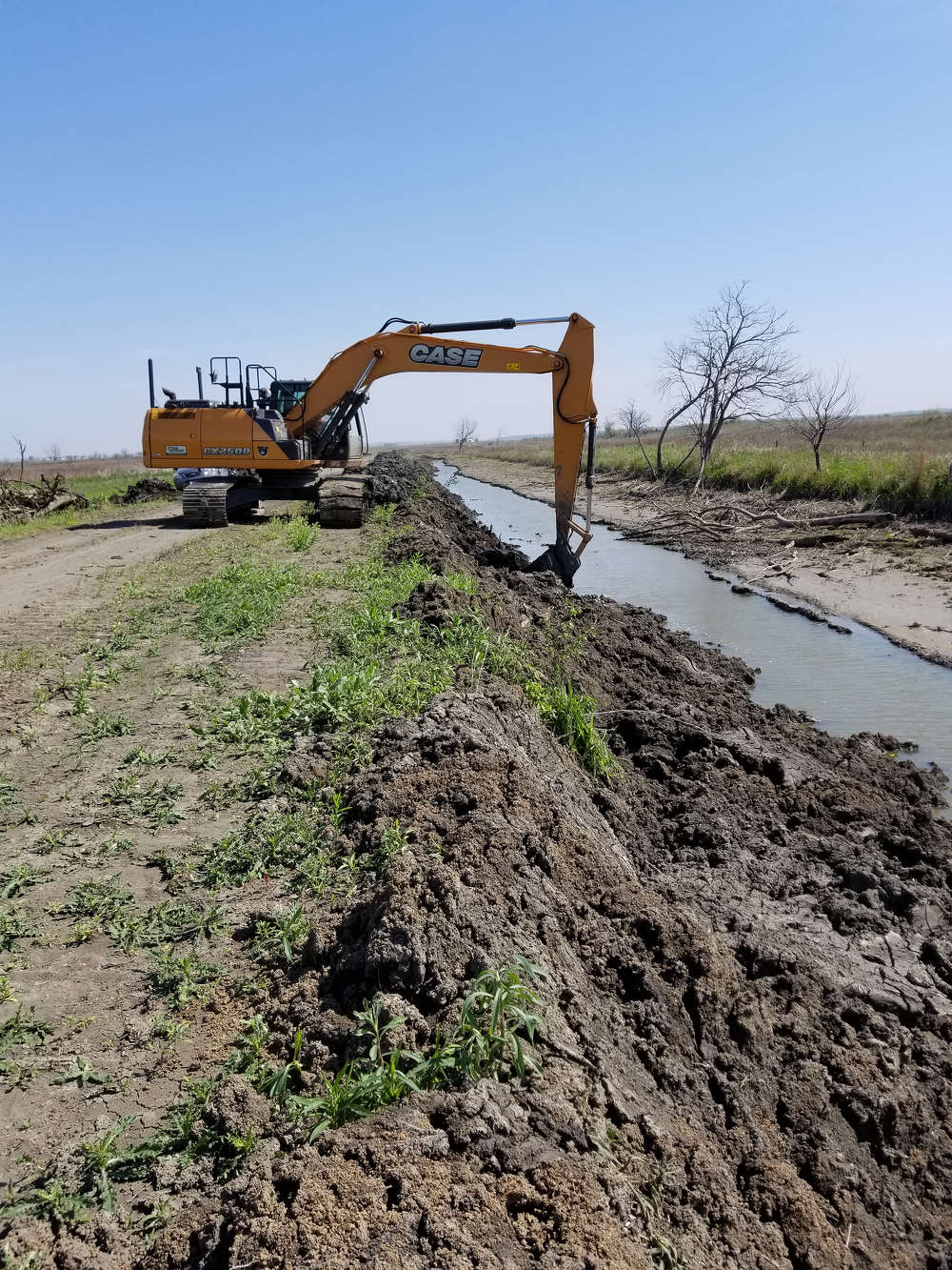 Team Rubicon tore down four levees and removed seven water culverts that were initially built to develop a wetland habitat for migratory birds.