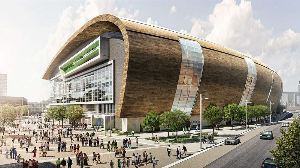 Rendering of the new Milwaukee Bucks arena. nba.com photo