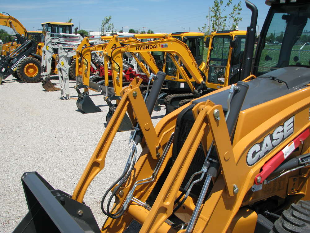 A great lineup of Case, Hyundai and Takeuchi machines were in the Diamond Equipment yard in Bowling Green and ready for delivery.