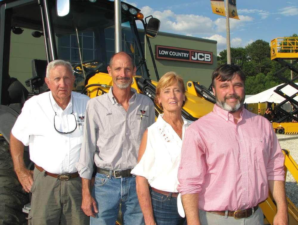 (L-R) are Kimball Adams Warnock, John Connor and Marie Graham, all of Adams-Warnock  Inc., Savannah, Ga., and Chris Shea, Low Country JCB.