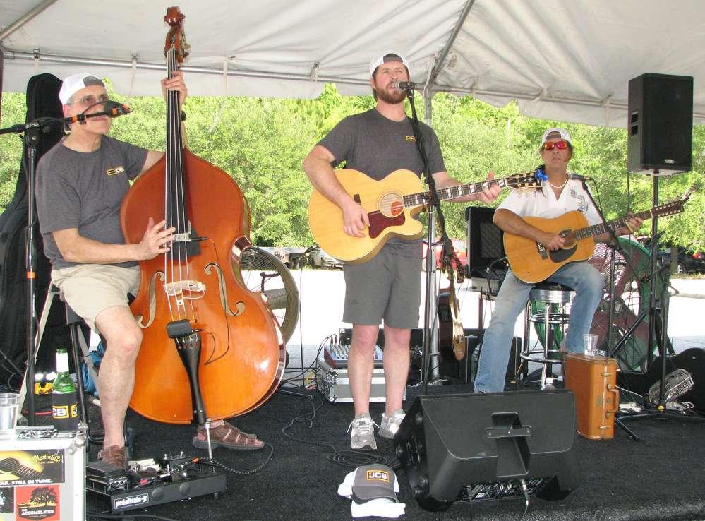 The Luke Lander Band, a local Savannah, Ga., band entertain guests.