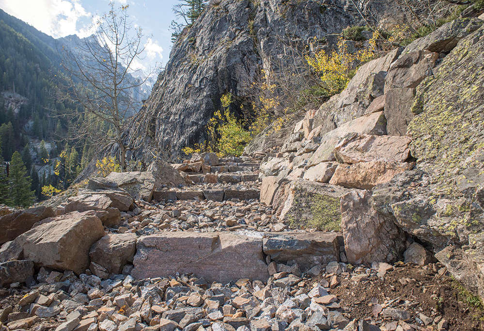 The work at Jenny Lake is entering its final phase and will be completed by the end of 2017.