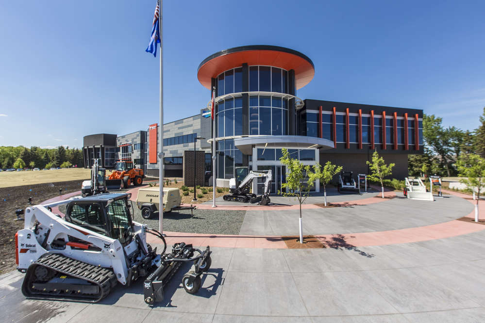 Doosan Bobcat North America completed a $9.5 million company headquarters expansion in West Fargo, North Dakota.  The expansion doubles the square footage and employee capacity of the original headquarters building – built in 2000 – bringing together teams who handle company administration, and manage sales and marketing and product development, for both Doosan and Bobcat brands.