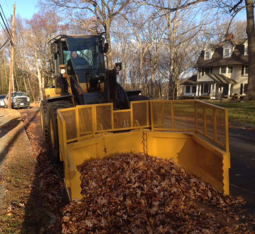 The Rockland clean-up grapple attachment for wheel loaders.