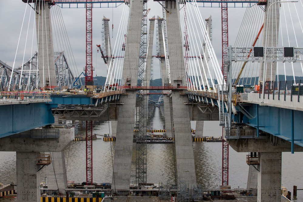 The Tappan Zee Bridge is fully drivable and ahead of schedule.  Photo: Fred R. Conrad for The New York Times