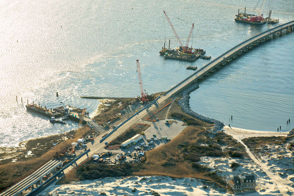 Heavy construction has moved into its second year on a long-awaited and vital bridge along North Carolina's Outer Bank