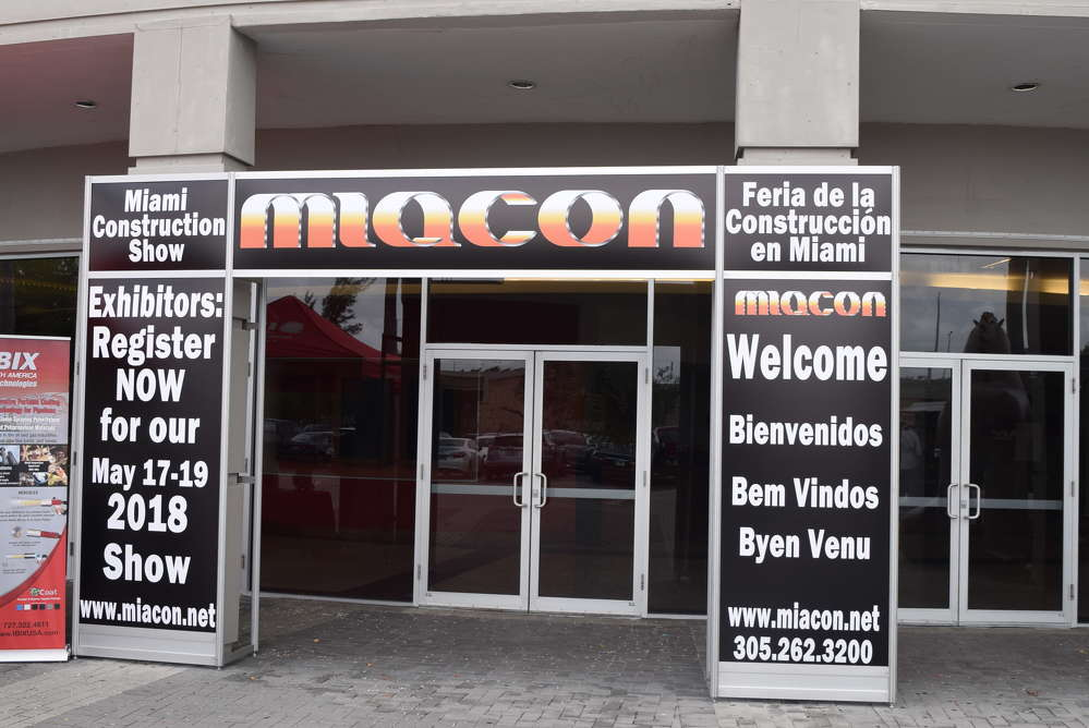 The Miacon Construction Show / Expo was held on May 18 to 20 at the Miami Airport Convention Center.