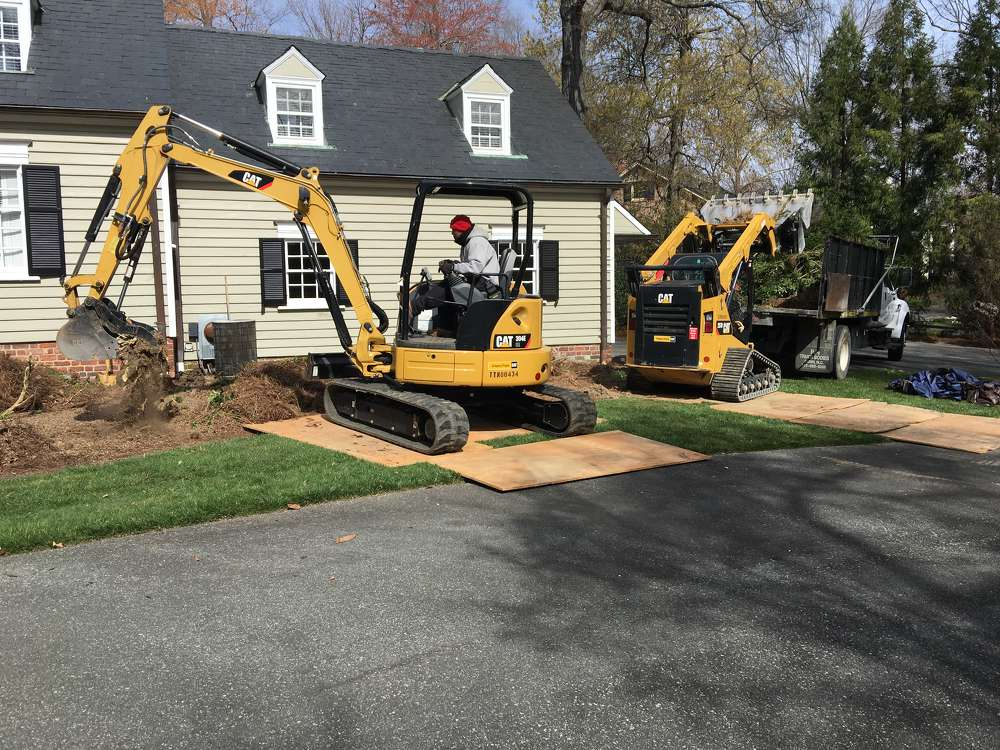 """""""For this project, we're taking out the plant material, putting in a new hardscape or landscape, renovating the irrigation, the lighting, the planting and lawn areas and putting the new package together,"""" Powell Fox of Clero Landscaping Inc. said."""