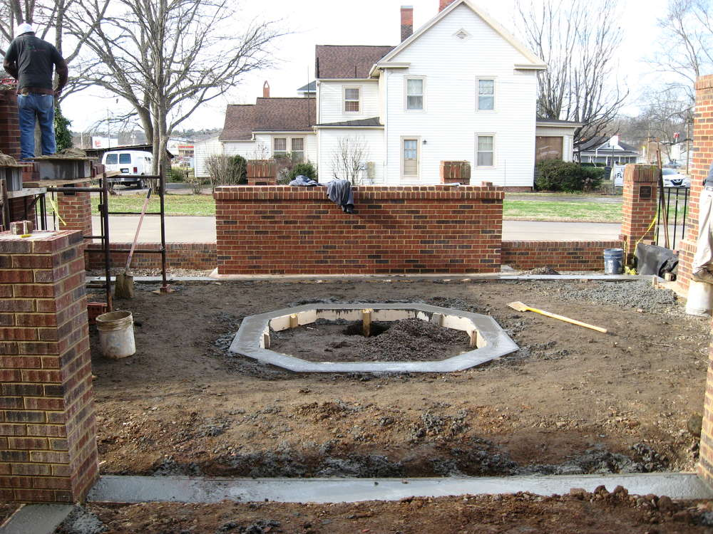 """""""We were asked to build two columbariums [a building with niches for funeral urns to be stored] for a local Methodist church, which was pretty challenging,""""  Powell Fox of Clero Landscaping Inc. said."""