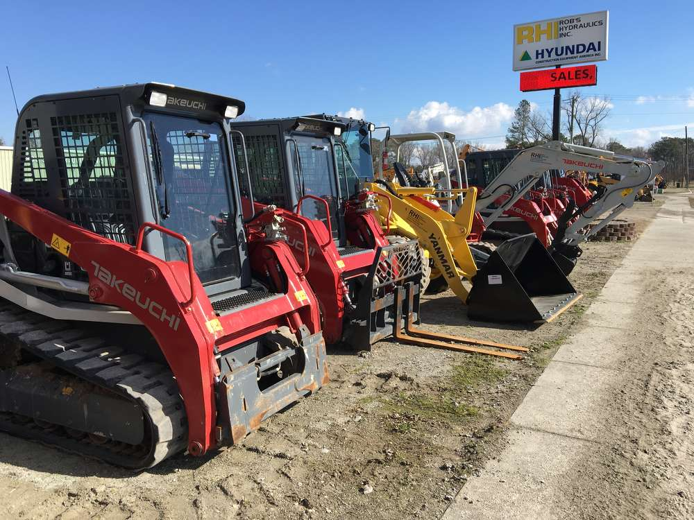 The company sells and rents a range of machines.